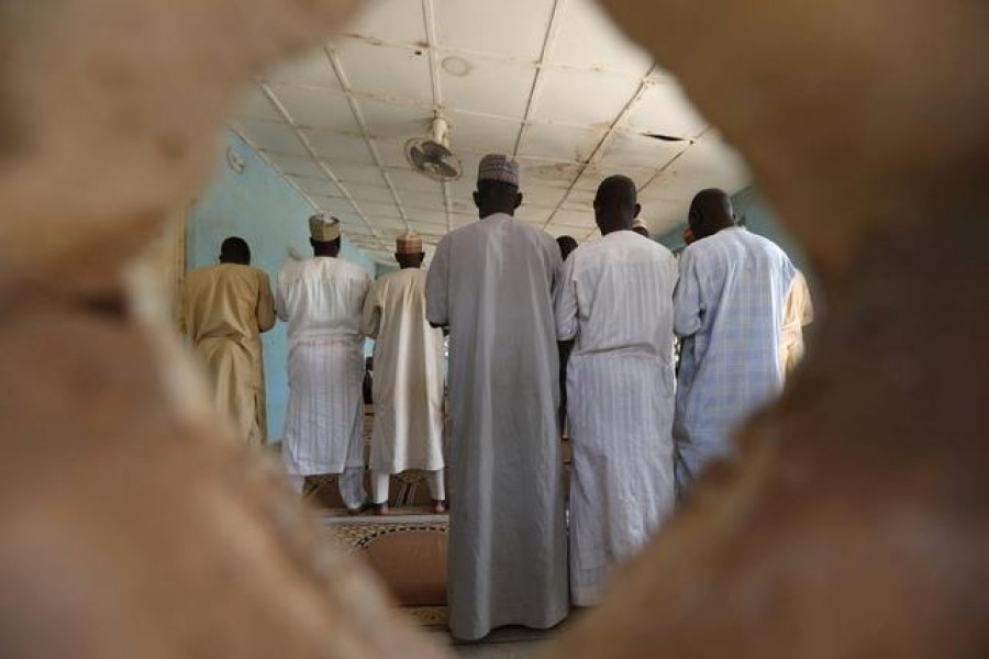 People pray in a mosque at the Government Science school in Kankara, in northwestern Katsina state, Nigeria, December 16, 2020 — Reuters/Files