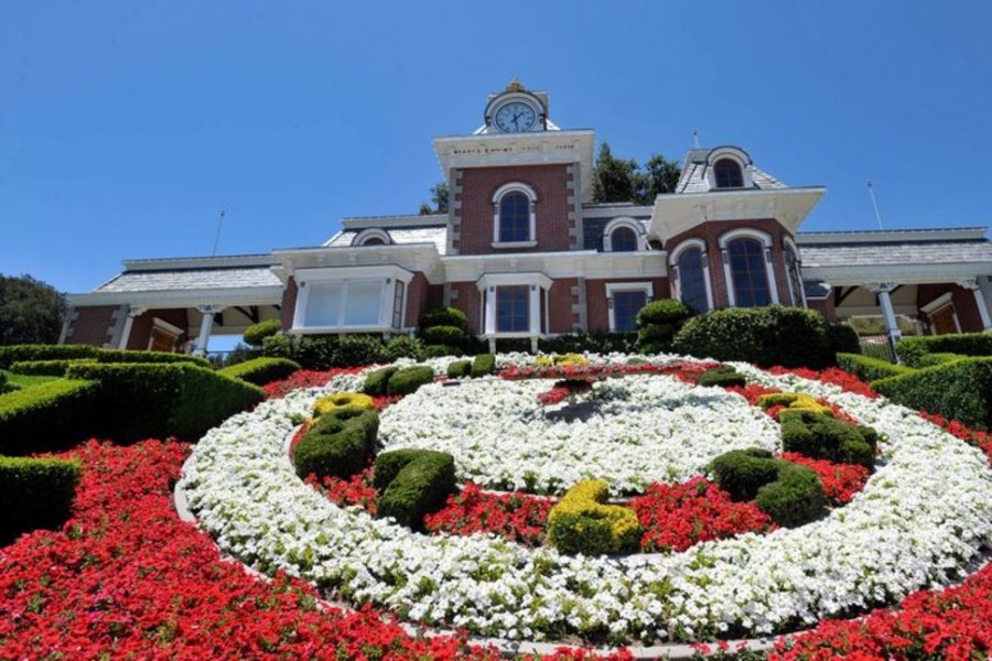 A general view of the train station at Michael Jackson's Neverland Ranch in Los Olivos, California July 3, 2009. REUTERS/Phil Klein