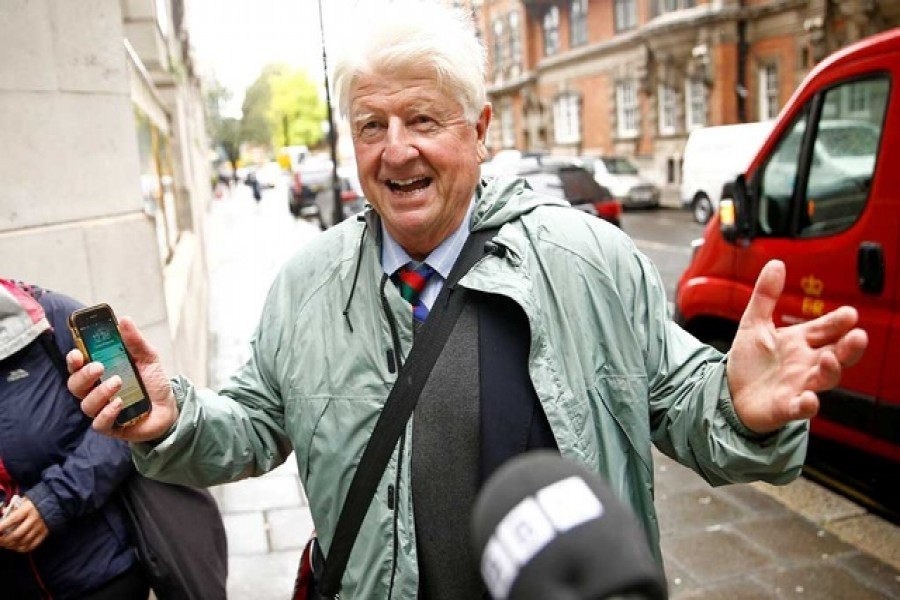 Stanley Johnson, father of Britain's Prime Minister Boris Johnson, is seen in Westminster, in London, Britain September 24, 2019. REUTERS