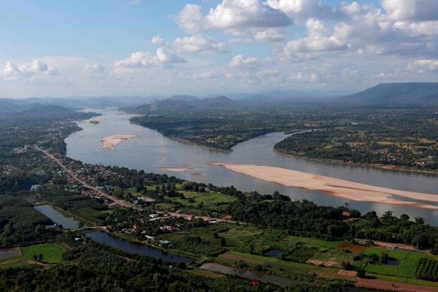 A view of the Mekong river bordering Thailand and Laos is seen from the Thai side in Nong Khai, Thailand, October 29, 2019. REUTERS/Soe Zeya Tun