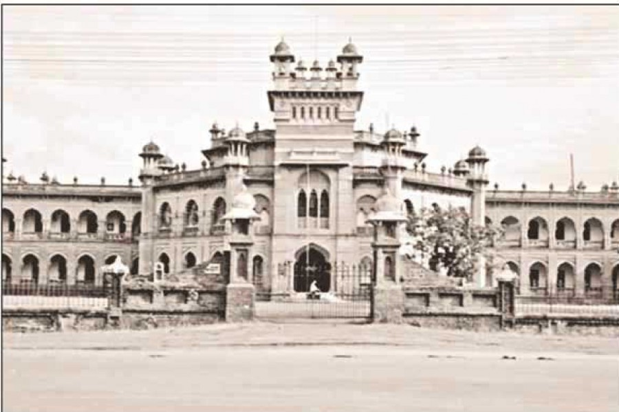 Curzon Hall of the University in Dhaka in 1950. Photo: Wikipedia