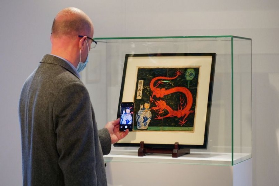 Tintin painting tipped to fetch over 2m euros