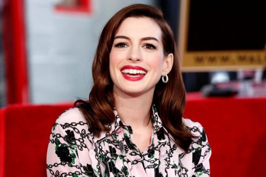 Anne Hathaway poses as she is honored with a star on the Hollywood Walk of Fame in Los Angeles, California, US on May 9, 2019 — Reuters/Files