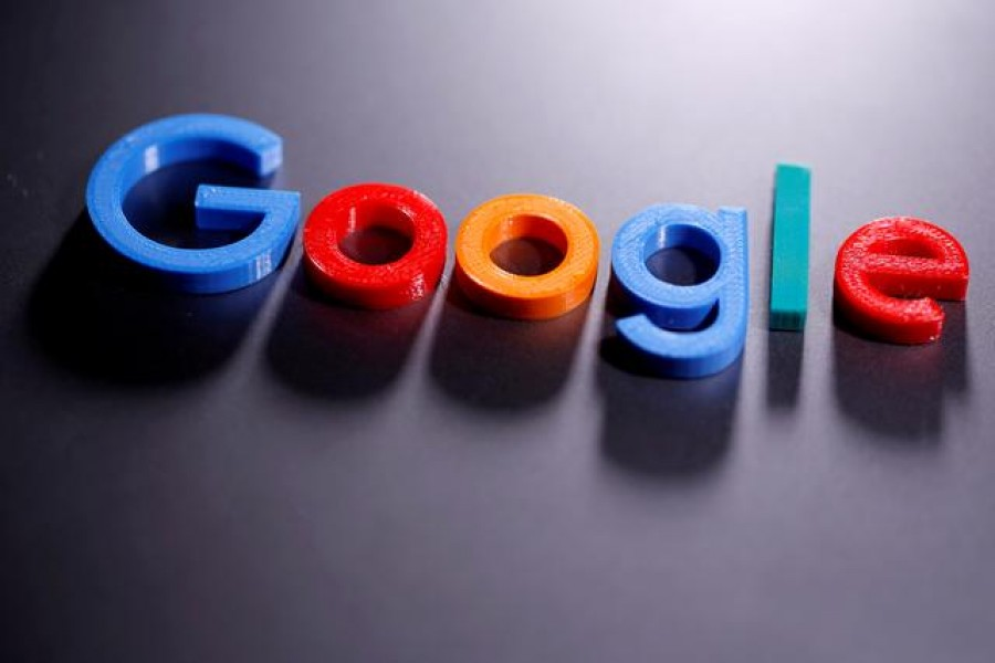 A 3D printed Google logo is seen in this illustration taken April 12, 2020 — Reuters/Files