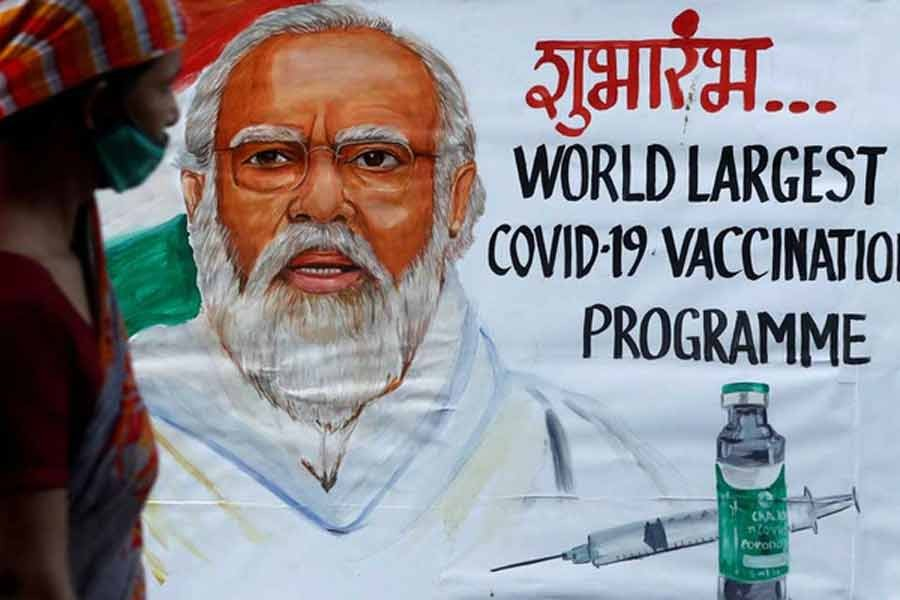 India inoculates more than one million people in a week