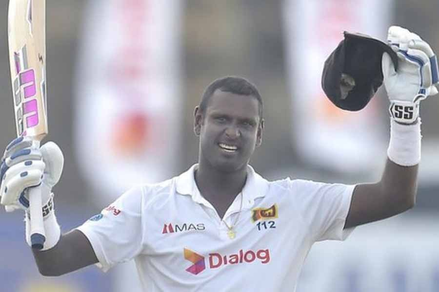 Mathews hits century on first day of second Test against England