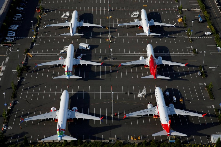 Boeing 737 Max aircraft are parked at Boeing Field in Seattle  — Reuters/Files