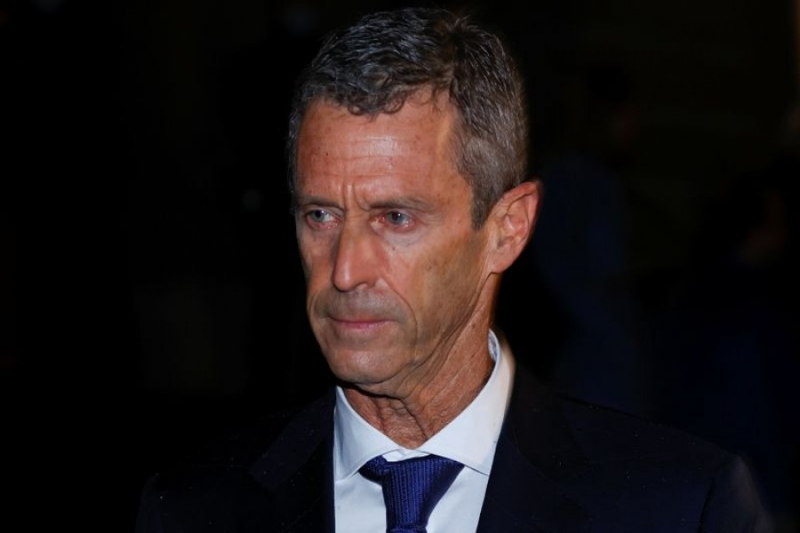 Israeli billionaire Beny Steinmetz leaves the courthouse after a verdict on corruption charges, in Geneva, Switzerland January 22, 2021. REUTERS/Denis Balibouse