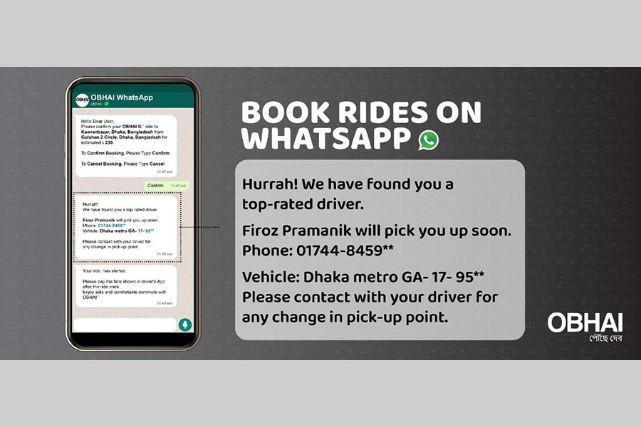 OBHAI launched on WhatsApp in Bangladesh