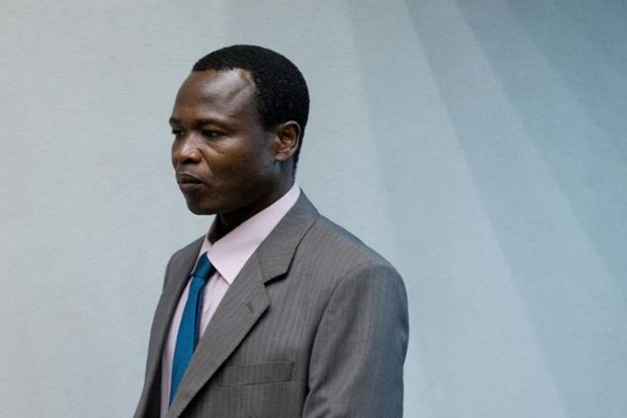 Dominic Ongwen, a senior commander in the Lord's Resistance Army, enters the court room of the International Court in The Hague, Netherlands, December 06, 2016. REUTERS/Peter Dejong/Pool/File Photo