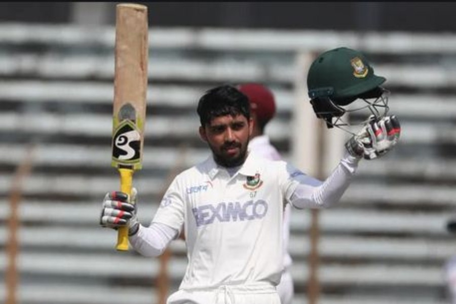 Mominul ton helps Tigers set 395-run target for Windies