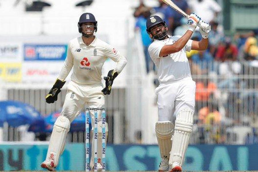 Rohit, Rahane propel India to over 300 on tricky pitch