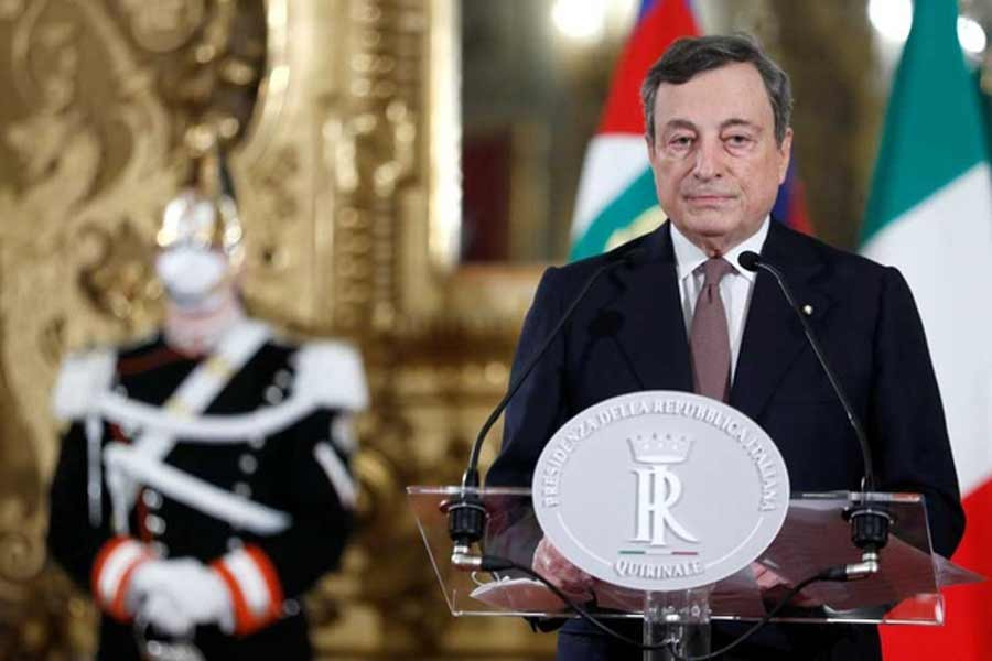 Italy's Draghi takes office, faces daunting challenges