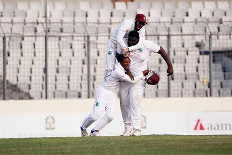 West Indies win by 17 runs to sweep Test series against Bangladesh