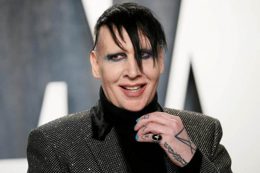 Marilyn Manson attends the Vanity Fair Oscar party in Beverly Hills during the 92nd Academy Awards, in Los Angeles, California, US, February 9, 2020 — Reuters/Files