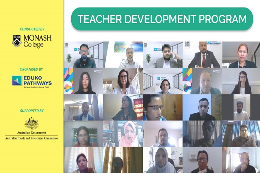 Eduko Bangladesh and Monash College conduct workshop for Bangladeshi teachers