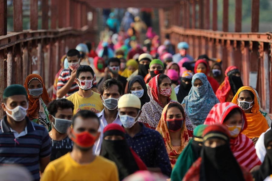 Bangladesh reports 428 virus cases, five deaths in a day