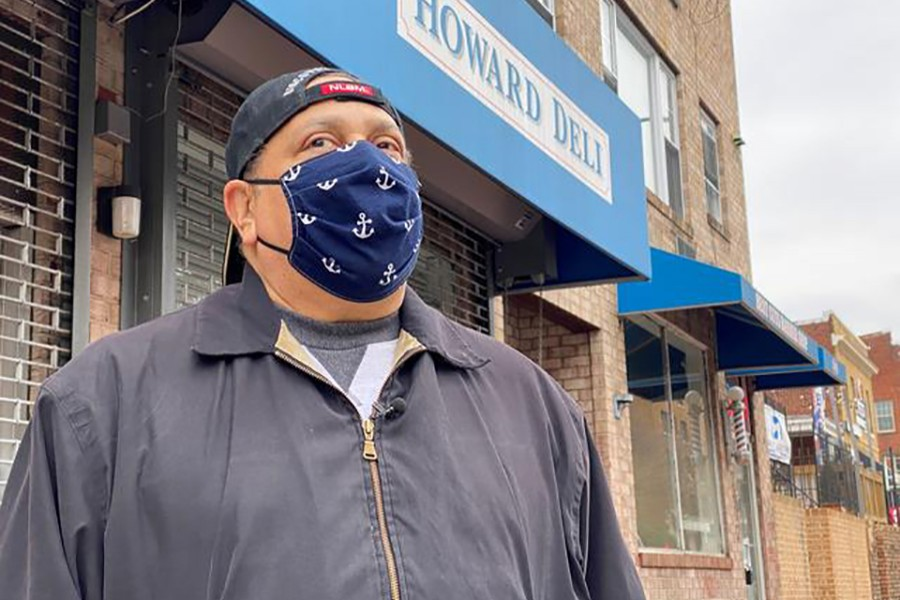 Pepe Diaz stands in front of his now shuttered Howard Deli, which he ran with his brother for more than 30 years before it had to close due to plummeting sales from coronavirus disease (Covid-19), in Washington, US on February 12, 2021 — Reuters photo