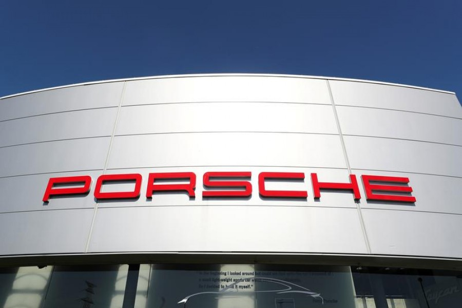A logo of Porsche is seen outside a Porsche car dealer, amid the coronavirus disease (Covid-19) outbreak in Brussels, Belgium May 28, 2020 — Reuters/Files