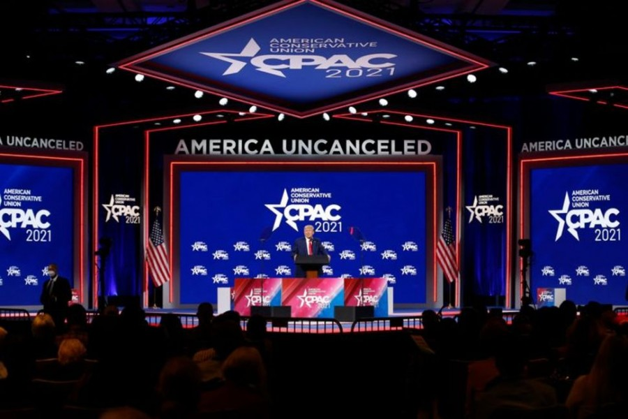 Former US President Donald Trump speaks at the Conservative Political Action Conference in Orlando, Florida, US, February 28, 2021 — Reuters