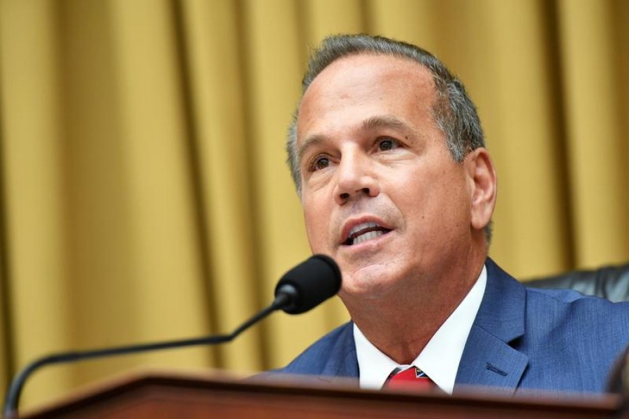 Rep David Cicilline (D-RI) speaks during a hearing in the Rayburn House office Building on Capitol Hill, in Washington, US, July 29, 2020 — Mandel Ngan/Pool via Reuters/Files