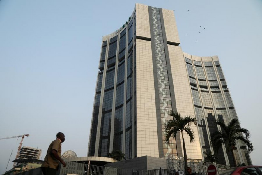 FILE PHOTO: The headquarters of the African Development Bank (AfDB) are pictured in Abidjan, Ivory Coast, January 30, 2020.REUTERS/Luc Gnago/File Photo