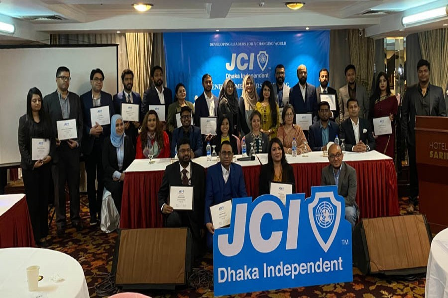A new chapter of Junior Chamber International (JCI) styled as 'JCI Dhaka Independent' was launched at a programme at a city hotel on Saturday. CEO and Managing Director of Startup Bangladesh Tina F Jabeen, Country director of ActionAid Bangladesh Farah Kabir, and Director of Nagad and national president of JCI Bangladesh chapter Niaz Morshed Elite were present at the event