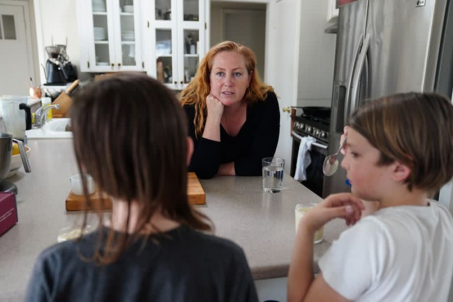 SETTLED: Eager to get their children back in classrooms, the Morgan family moved from California to Texas so the boys could resume their regular routines — REUTERS photo