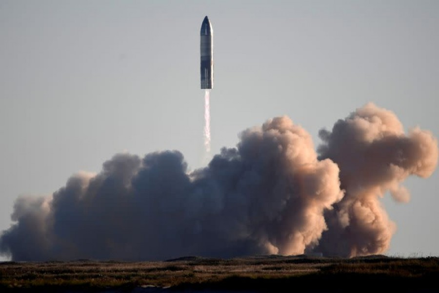SpaceX launches its first super heavy-lift Starship SN8 rocket during a test from their facility in Boca Chica,Texas, US on December 9, 2020 — Reuters/Files