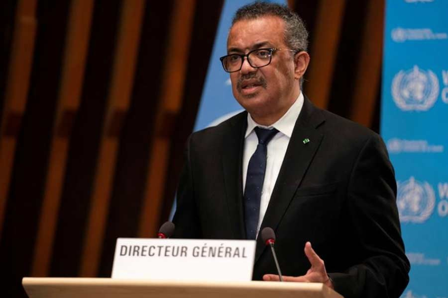 Tedros Adhanom Ghebreyesus, Director General of the World Health Organization (WHO), speaking at programme in Geneva in January this year -Reuters file photo