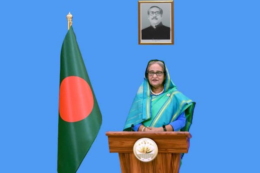 Premier Hasina calls for global action to address liquidity crisis, debt burden in post-Covid era