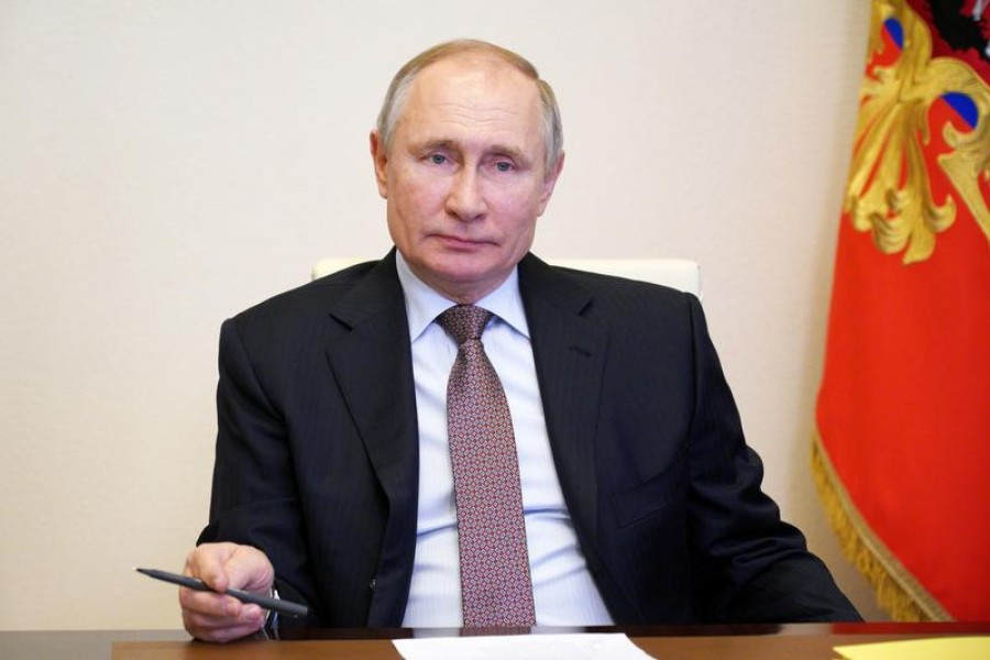Russian President Vladimir Putin seen in this undated Reuters photo