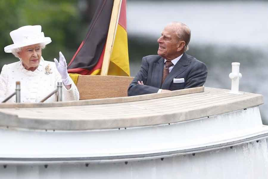 Britain's Queen Elizabeth and Prince Philip take a boat trip on Spree river in Germany in 2015 -Reuters file photo