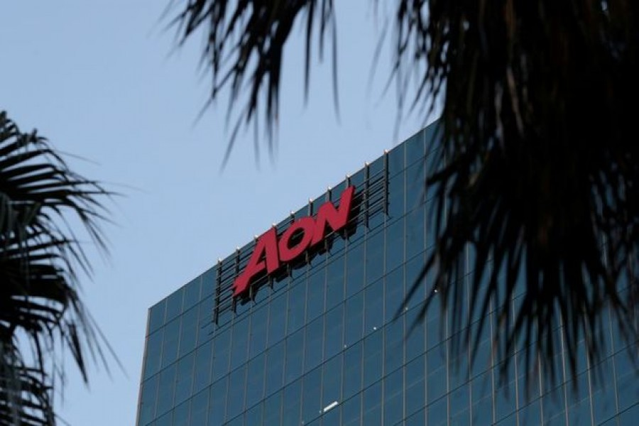 An office building with the Aon logo is seen amid the easing of the coronavirus disease (Covid-19) restrictions in the Central Business District of Sydney, Australia on June 3, 2020 — Reuters/Files