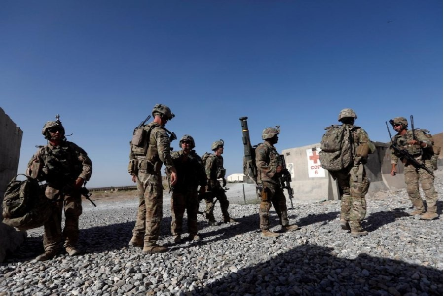 US troops patrol at an Afghan National Army (ANA) Base in Logar province, Afghanistan. File photo from Reuters