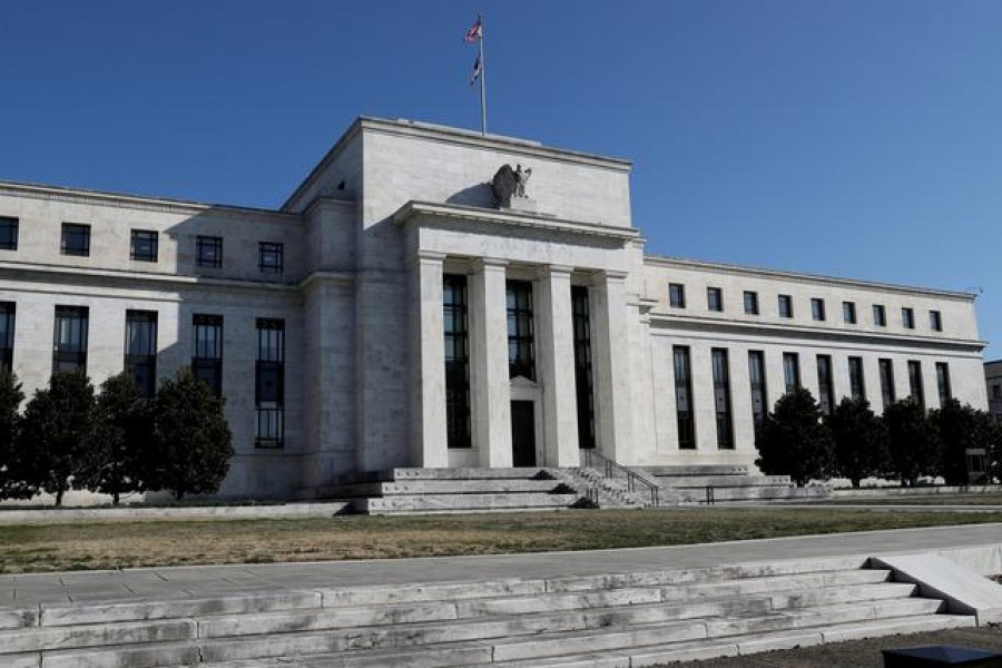 Federal Reserve Board building on Constitution Avenue is pictured in Washington, US, March 19, 2019. REUTERS/Leah Millis/File Photo