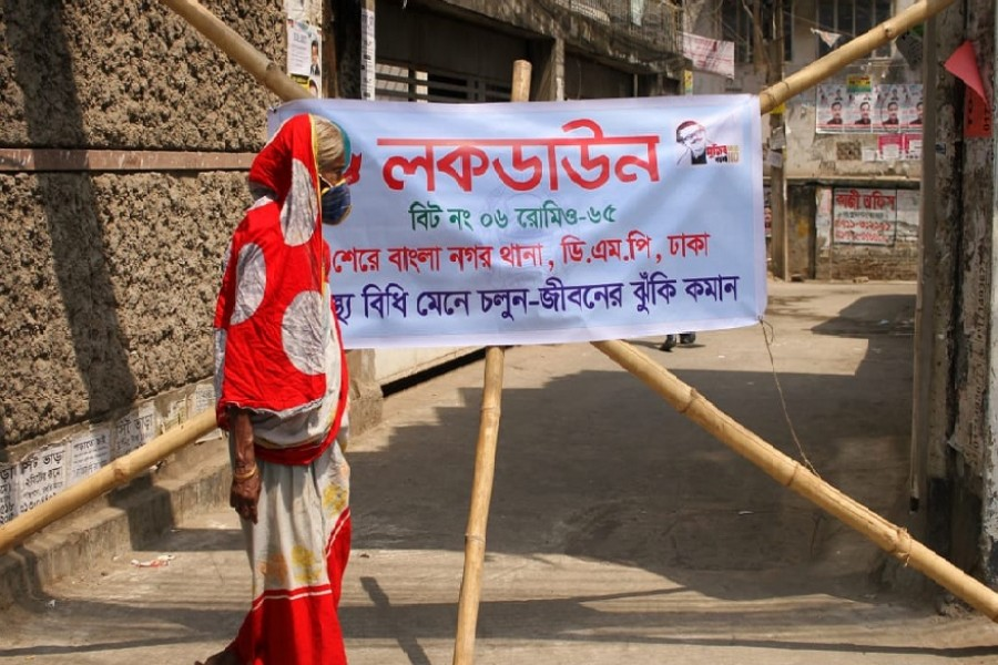 Dhaka streets largely deserted on third day of lockdown