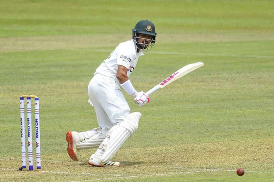 Maiden century from Shanto gives Bangladesh strong start