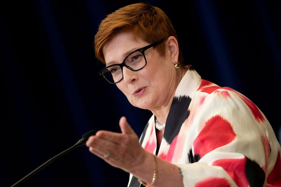 Australia's Foreign Minister Marise Payne speaks during a news conference — Reuters/Files