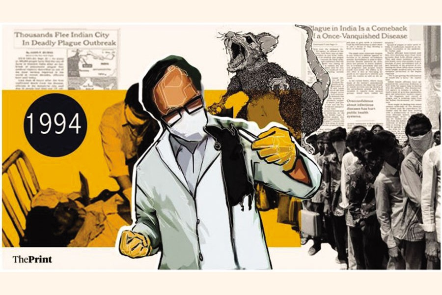 An illustration of Surat plague in India in 1994 - www.theprint.in