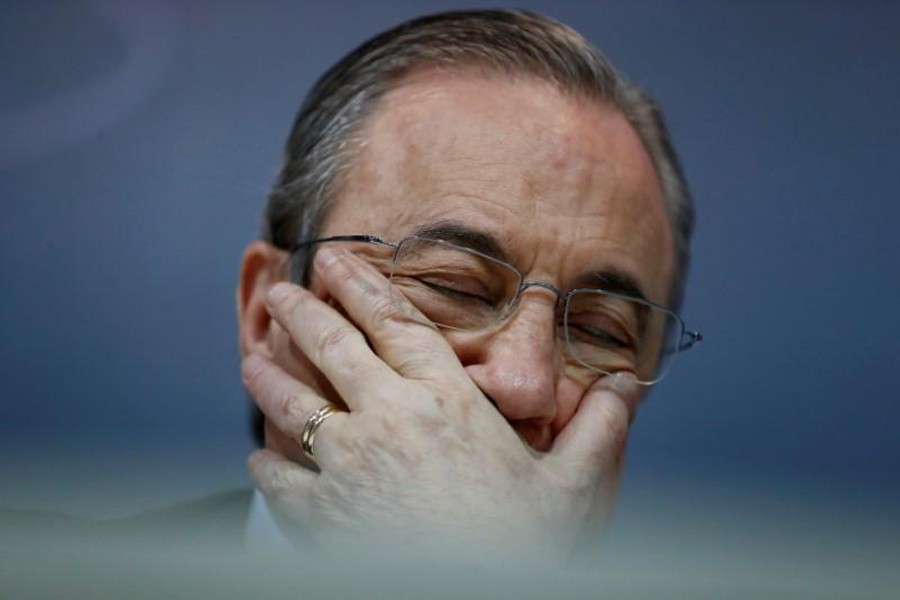 Real Madrid president Florentino Perez during a press conference — Reuters/Files