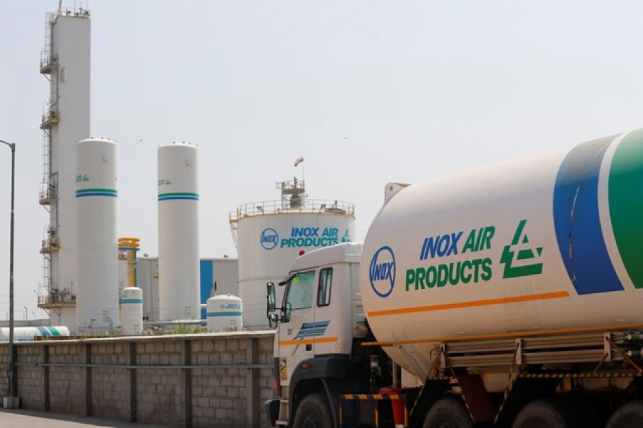An empty tanker is seen outside an oxygen plant, amidst the spread of the coronavirus disease (Covid-19), in Ghaziabad, on the outskirts of New Delhi, India, April 22, 2021 — Reuters