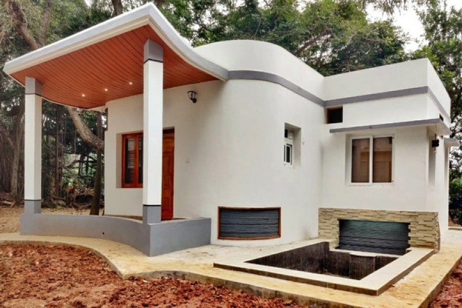 India's first 3D-printed house. Photo taken via Tvasta's official Twitter account.