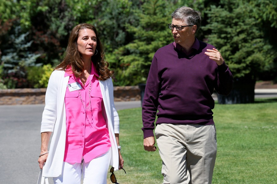 Microsoft technology advisor Bill Gates and his wife Melinda are seen in this Reuters file photo