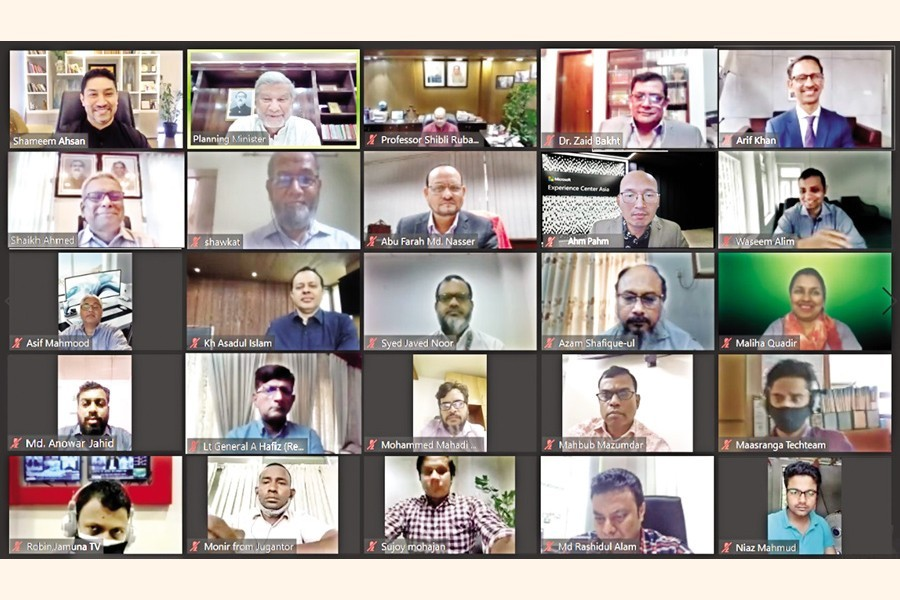 Venture Capital and Private Equity Association of Bangladesh (VCPEAB) in partnership with the Capital Market Journalists' Forum held a roundtable on 'Venture capital and startups for a post-Covid resilient economy' virtually on Thursday, with Planning Minister MA Mannan as the chief guest. Chairman of Bangladesh Securities and Exchange Commission Prof. Shibli Rubayat-Ul-Islam was present as a special guest while VCPEAB President Shameem Ahsan chaired the event
