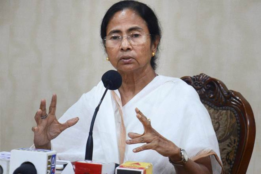 West Bengal Chief Minister Mamata Banerjee seen in this undated PTI photo