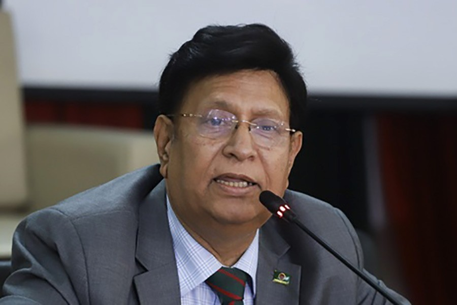 Bangladesh Foreign Minister Dr AK Abdul Momen seen in this undated file photo