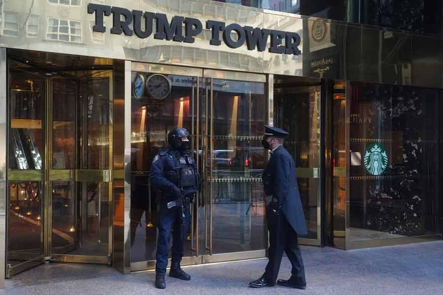 Trump Tower entrance is pictured amid the coronavirus disease (COVID-19) pandemic in the Manhattan borough of New York City in January this year –Reuters file photo