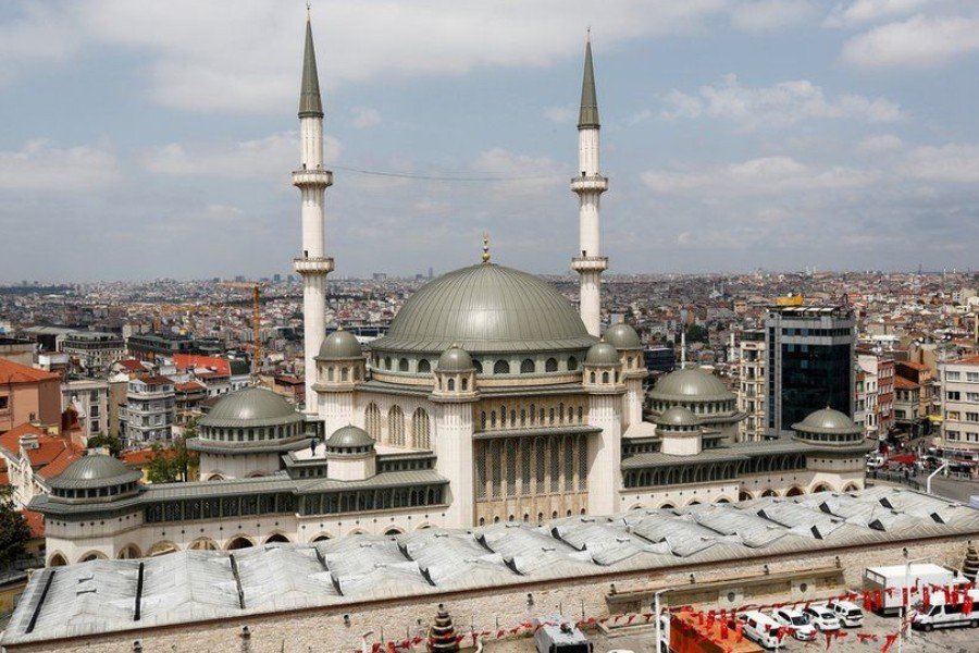 The Taksim Mosque has capacity for 4,000 people - Reuters
