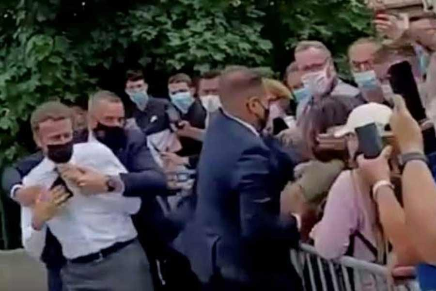 Man held over Macron slapping was medieval martial arts enthusiast